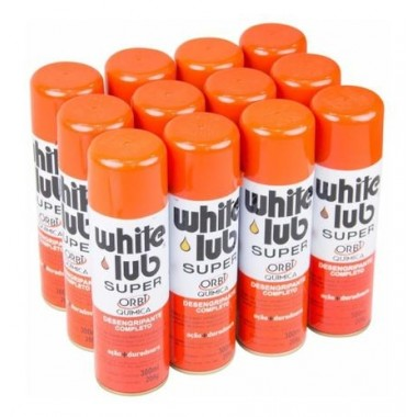 WHITE LUB SUPER DESENGRIPANTE SPRAY 12 UNIDADES DE 300ML ORBI