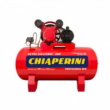 COMPRESSOR DE AR 10 PCM 150 LITROS BIVOLT MONO 10/150 RED CHIAPERINI