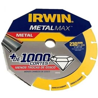 """DISCO DE CORTE DE 9"""" 230MM X 2,1MM X 22,23MM METALMAX IRWIN"""