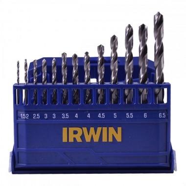 JOGO COM 13 BROCAS HSS PARA METAL 1,5MM A 6,5MM NO ESTOJO 1865311 IRWIN