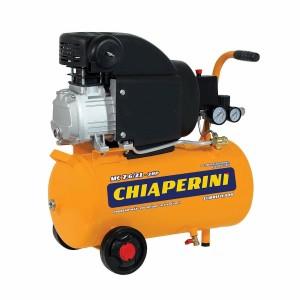 MOTOCOMPRESSOR DE AR 7,6PCM 2HP 21 LITROS 110V COM RODAS MC 7.6/21 CHIAPERINI