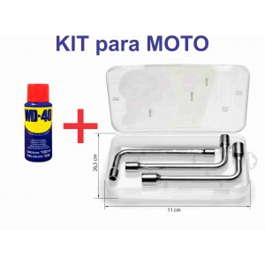 KIT PARA MOTO - WD-40 + JOGO DE CHAVES - TRAMONTINA