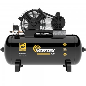COMPRESSOR 100L 10PCM 140PSI COM MOTOR 2HP MONO 110V 220V VORTEX 300 PRESSURE