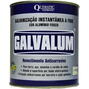 GALVANIZAÇÃO INSTANTÂNEA A FRIO ALUMÍNIO FOSCO 900ML GALVALUM QUIMATIC TAPMATIC